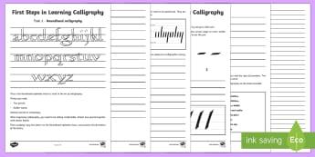 Calligraphy Activity Sheets - KS2 Handwriting day 23rd Jan 2017, calligraphy, calligraphy techniques, KS2 handwriting, worksheets,