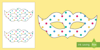 Spotty Themed Party Masks