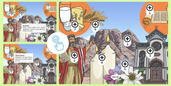 Shavuot Picture Hotspots - Twinkl Go, twinkl go, TwinklGo, twinklgo, Shavuot, (30.5.17), KS2, year 3, year 4, year 5, year 6, yr 3, yr 4, yr 5, yr 6, Jewish festival, Je