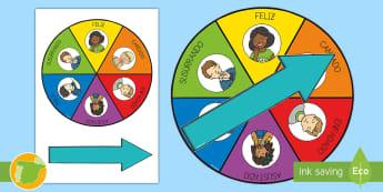 Ruleta de voces de lectura. - Ruleta, roulette, spinner, wheel, gusto por la lectura, motivación, lectura en voz alta, voces de l