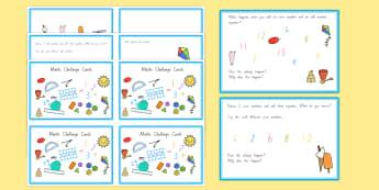 Summer Themed Junior Maths Challenge Cards - nz, new zealand, summer, challenge, math