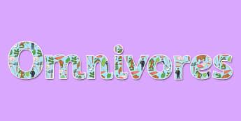Omnivores Display Lettering - omnivore, display, lettering, science