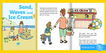 Exploring My World - Sand, Waves and Ice Cream eBook - the beach, the seaside, sea, summer, aistear, story, Irish