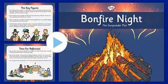 Bonfire Night Assembly Presentation - bonfire, night, guy, fawkes, assembly, presentation, whole, school, fireworks, november, 5th