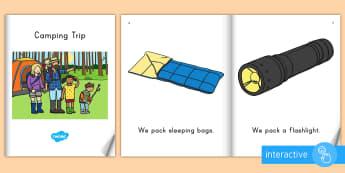 Camping Trip eBook - Summer, summer season, first day of summer, summer vacation, summertime, camping, beginning readers,