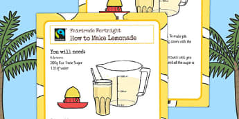 Fairtrade Fortnight Lemonade Recipe - fairtrade, lemonade, recipe