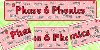 Phase 6 Phonics Display Banner - banners, displays, posters