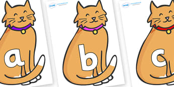 Phoneme Set on Pussy Cats - Phoneme set, phonemes, phoneme, Letters and Sounds, DfES, display, Phase 1, Phase 2, Phase 3, Phase 5, Foundation, Literacy