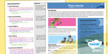 PlanIt - Computing Year 4 - Photo Stories Planning Overview - planit, computing, unit