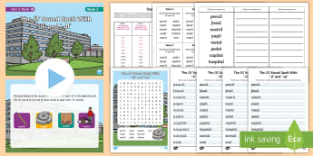 Year 2 Term 1B Week 3 Spelling Pack - Spelling Lists, Word Lists, Autumn Term, List Pack, SPaG