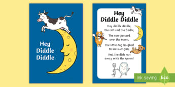 Hey Diddle Diddle Nursery Rhyme IKEA Tolsby Frame - baby signing, baby sign language, communicate with baby, pre verbal baby, tiny talk, sing and sign,