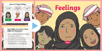 UAE - Topics - Feelings PowerPoint - Feelings, emotions, UAE, PowerPoint, quiz, All About Me.