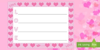 Love Acrostic Poem - acrostic poems, acrostic poem, acrostic, love acrostic poetry, valentines acrostic poem, valentines acrostic poetry, love poem, love poem writing frame, poem, poetry, literacy, writing activity, activity