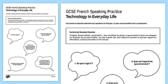 L'information en ligne Speaking Practice Activity Sheet - French, worksheet