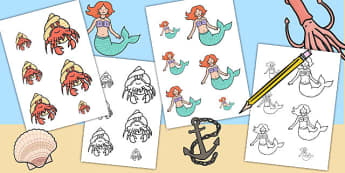 Mermaid Themed Size Ordering - mermaids, fantasy, fairy tales