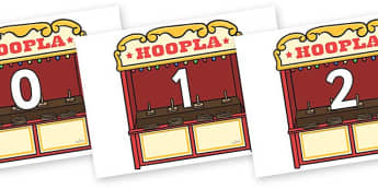 Numbers 0-100 on Hoopla Stands - 0-100, foundation stage numeracy, Number recognition, Number flashcards, counting, number frieze, Display numbers, number posters