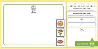 Workstation Pack: Non-Identical Food Sorting