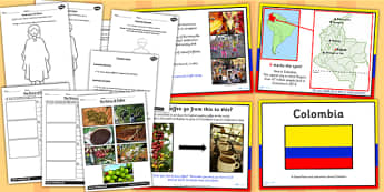 Colombia Lesson Teaching Pack - geography, countries, country