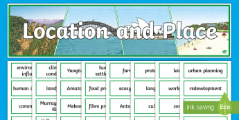 Location and Place Display Pack - ACHASSK113, geography, year 5, header, title, topic, wall,Australia