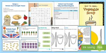 KS1 British Food Fortnight Activity Pack - Science, healthy eating, 23rd September to 8th October, British food, where does my food come from