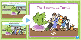 The Enormous Turnip Story PowerPoint - the enormous turnip, story powerpoint, powerpoint, themed powerpoint, the enormous turnip story, discussion prompt, the enormous turnip story book