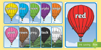 English Colours Display Posters Pack - english, colours, display posters, pack, display, posters