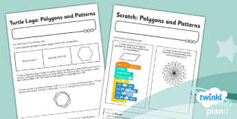 Computing: Programming Turtle Logo and Scratch Year 3 Unit Home Learning Activity Sheets