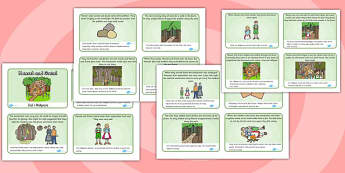 Hansel and Gretel Story Sequencing (4 per A4) Polish Translation - polish