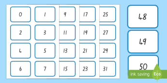 Digit (0-50) Number Cards - New Zealand, maths, number recognition, number identification, cards, flash cards, display, age 5, a