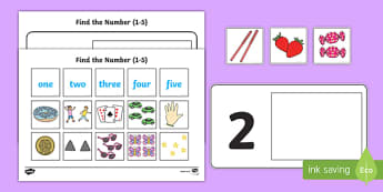 Workstation Pack: Find the Number (1 -  5) Activity