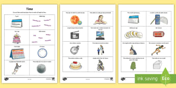 Time Maths Investigation Activity  - hour, minute, convert, year, month, week, day