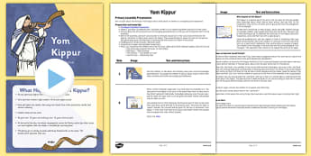 Yom Kippur Assembly PowerPoint and Script Pack - yom kippur