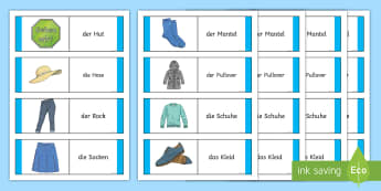Clothing Card Game German - German Games, German activities, German clothes, German cards, German clothing, German uniform.,Scot