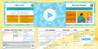 PlanIt Y5 Number and Place Value Lesson Pack Number Reasoning (1) -  problems, solve, use and apply, consolidate