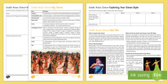 South Asian Dance Activity Pack - dance, ks3 dance, ks4 dance, south asian dance, choreography, dance appreciation