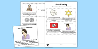 Scottish Significant Individuals Jane Haining Sequencing Worksheet - Scottish significant individual, Christian, missionary, Holocaust, Jewish, Auschwitz