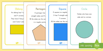 2D Shape Information Display Posters - shapes, math, geometry, posters, display, 2D