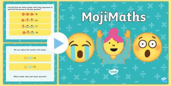LKS2 MojiMaths PowerPoint - Mathemoji, Solvemoji, Emoticon, Emoji, Algebra, moji