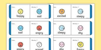 Feelings and Emotions Loop Cards