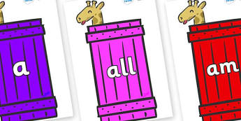 Foundation Stage 2 Keywords on Giraffes (Crate) to Support Teaching on Dear Zoo - FS2, CLL, keywords, Communication language and literacy,  Display, Key words, high frequency words, foundation stage literacy, DfES Letters and Sounds, Letters and Soun