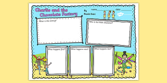 Book Review Writing Frame to Support Teaching on Charlie and the Chocolate Factory - charlie and the chocolate factory book review, book review writing frames