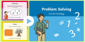 Problem Solving R.U.D.E Strategy PowerPoint - ROI, maths, Numeracy, method, Irish