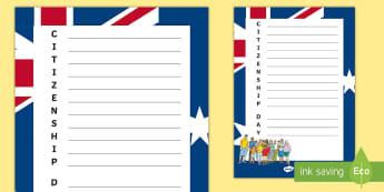 Australian Citizenship Day Acrostic Poem - Australian Citizenship Day, Acrostic Poem, Yr 3, Yr 4, Yr 5, Yr 6