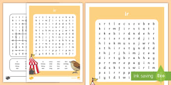 'ir' Digraph Differentiated Word Search  - phonics, jolly phonics, jolly grammar, reading, writing, spelling, writing, spelling, reading,Irish