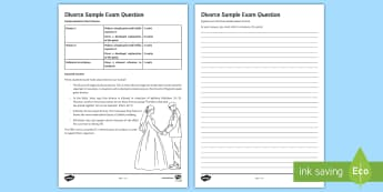 Divorce Sample Exam Question - Divorce, Marriage, Christianity, Family Life, Relationships