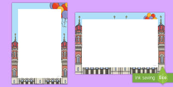 Purim Themed Page Border Pack - purim, key stage 1, judaism, jewish festivals,  Purim Themed Page Border Pack , judaism