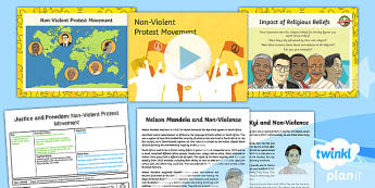 RE: Justice and Freedom: Non-Violent Protest Movement Year 6 Lesson Pack 5