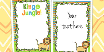 Jungle Themed Birthday Party Editable Poster - jungle, party