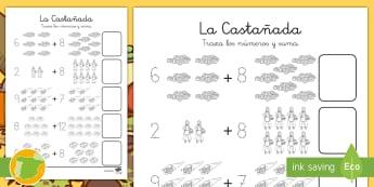 La castañada Sumar hasta 20 - otoño, fiestas, tradiciones, castañas, castañera,Spanish