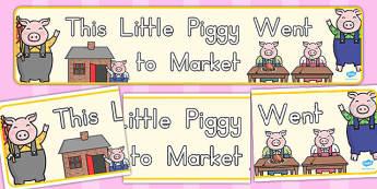 This Little Piggy Display Banner - australia, display, banner